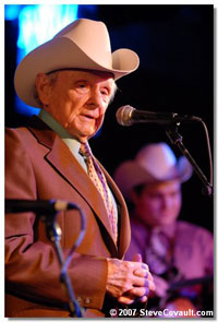 Ralph Stanley during his Feb 2007 show at the Belly Up